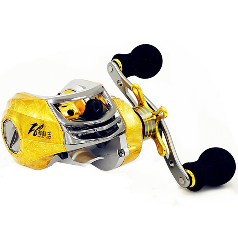 18+1BB Ball Bearing Baitcasting Fishing Reel High Speed 6.3:1 Gold Magnetic Brake Top Quality Drag Power 8.0kg Left Right Hand