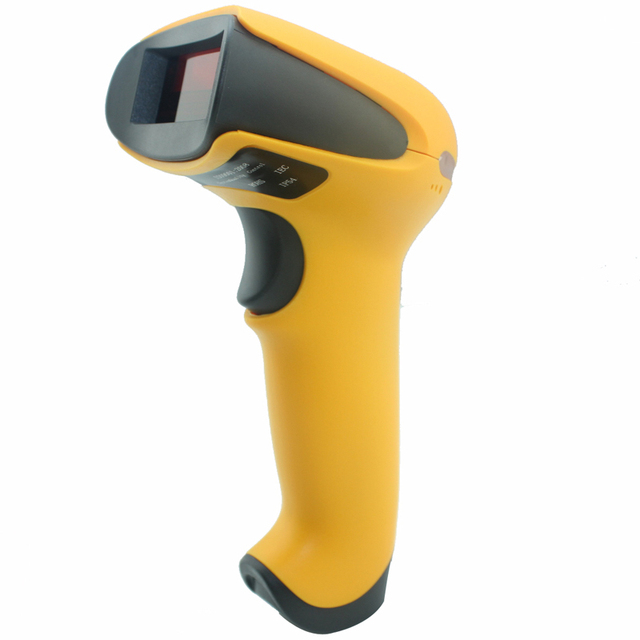 Portable 1D wireless laser barcode scanner with wireless receiver pos handheld bar code reader for supermarket no need driver