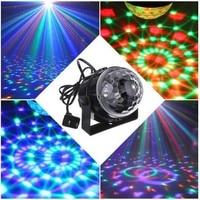 3ワットミニrgb ledクリスタルマジックボール音声起動ステージ効果照明ランプ電球クリスマスステージパーティーディスコクラブdjライ