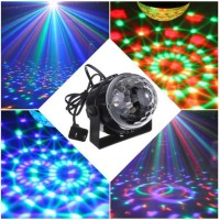 3W Mini RGB LED Crystal Magic Ball Voice Activated Stage Effect Lighting Lamp Bulb Christmas Stage