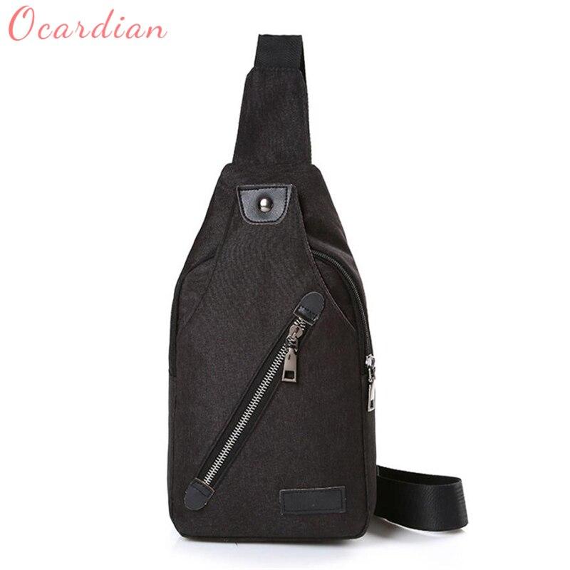 2018 Ocardian Fashion Canvas Unbalance Backpack Crossbody Shoulder Bag Chest Bag hot breathable Backpacks C0411