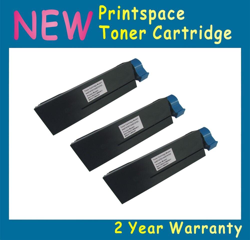 3x NON-OEM Black Toner Cartridge Compatible For OKI B401 B401D B401DN MB441 MB451 MB451W Free Shipping powder for oki data 700 for okidata b 730 dn for oki b 720 dn for oki data 710 compatible transfer belt powder free shipping