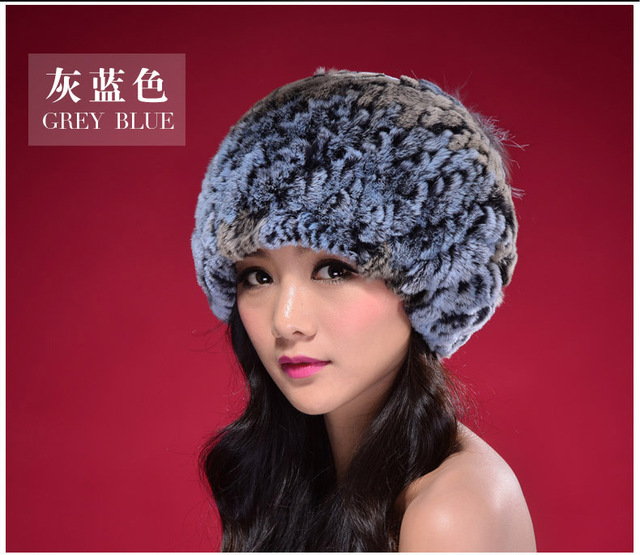 Special Offer 2016 Ladies Fleece Beanie Casual Caps Winter Real Rex Rabbit Fur Hats Wool Beret Cap For Women Free Shipping