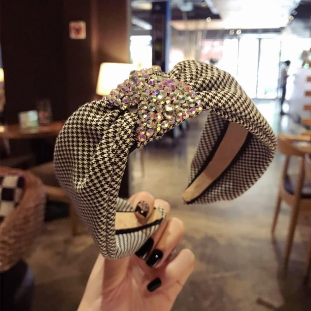 2019 New Shining Rhinestone Hair Accessories For Women Fashion Non-slip Teeth Hairbands Headwear Hair Hoop(China)