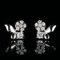 0.38ct SI SI2 Natural Diamonds Women Engagement Stud Earrings 18k White Gold Lady Fine Jewelry