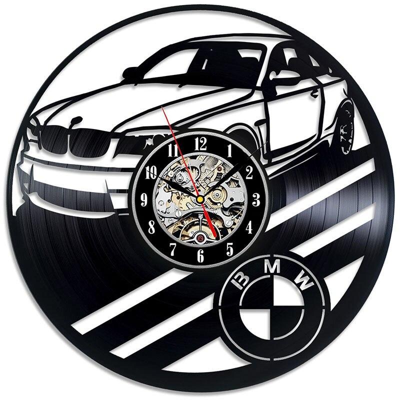 Free shipping BMW design ethylene base material quality vinyl wall clock