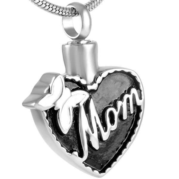 Mom In My Heart Urn Necklace