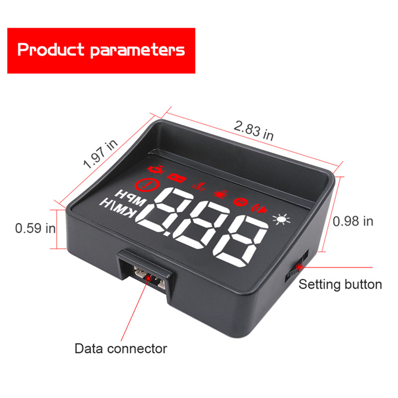 Image 2 - GEYIREN Car hud a100s obd hud display windshield projector temperature hud display car car electronics Overspeed Warning System-in Head-up Display from Automobiles & Motorcycles