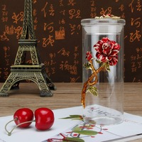 Coffee Jar Tea Jar Crystal Enamel Rose Storage Container Kitchen Container