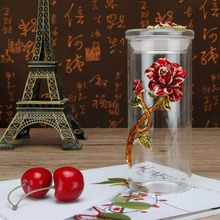 Coffee Jar Tea Crystal Enamel Rose Storage Container Kitchen