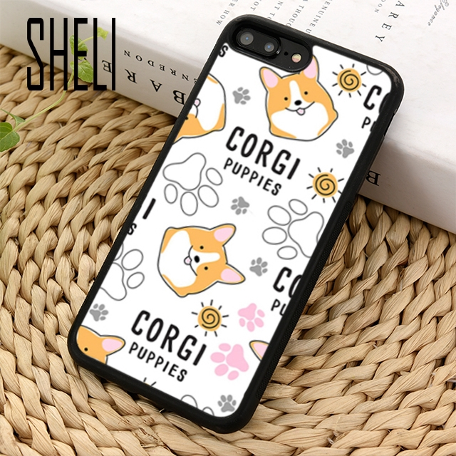 100% Quality Sheli Corgi Drawing Dancing Dog Phone Case Cover For Iphone 6 6s 7 8 Plus X Xr Xs Maxs Se Samsung Galaxy S6 S7 Edge S8 S9 Plus