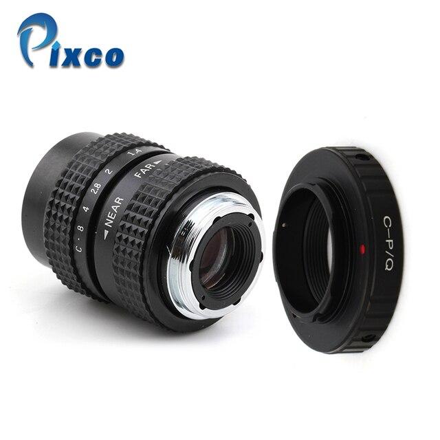 Pixco 25mm F1.4 P/P CCTV soczewka do tv + C mocowanie dla Pentax Q dla Pentax Q S1 Q10 Q7 mft obiektyw