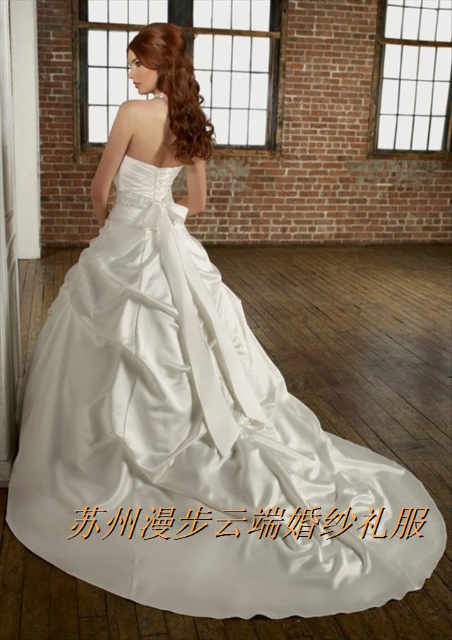 free shipping bridal gown casamento vestido de noiva 2016 new fashionable sexy romantic sweetheart belt wedding dress ball gown in Wedding Dresses from Weddings Events