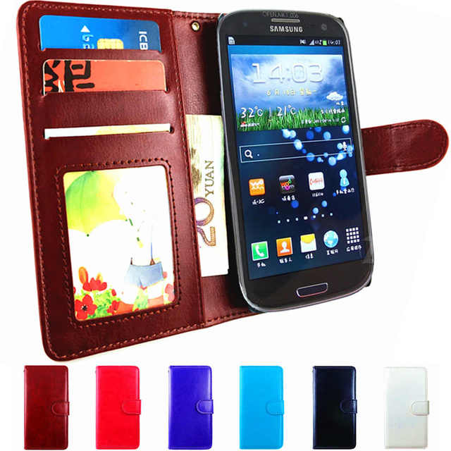 best service 27421 866f3 US $3.69 20% OFF|S3 GT I9300 Cover Flip Leather Wallet Case For Samsung  Galaxy S3 Neo Case Phone GT I9300i Duos S 3 Cover i9300 i i9300i GT  i9305-in ...
