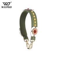 WDPOLO Strapper You 40cm Short Stud And Spike Design Women Handbag Strap Flower Handle For Bags
