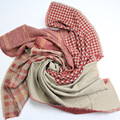 Stylish Autumn Winter Women Designer Scarf Imitation Cashmere Houndstooth Plaid Scarves Female MixColor Patchwork Dual-Use shwal