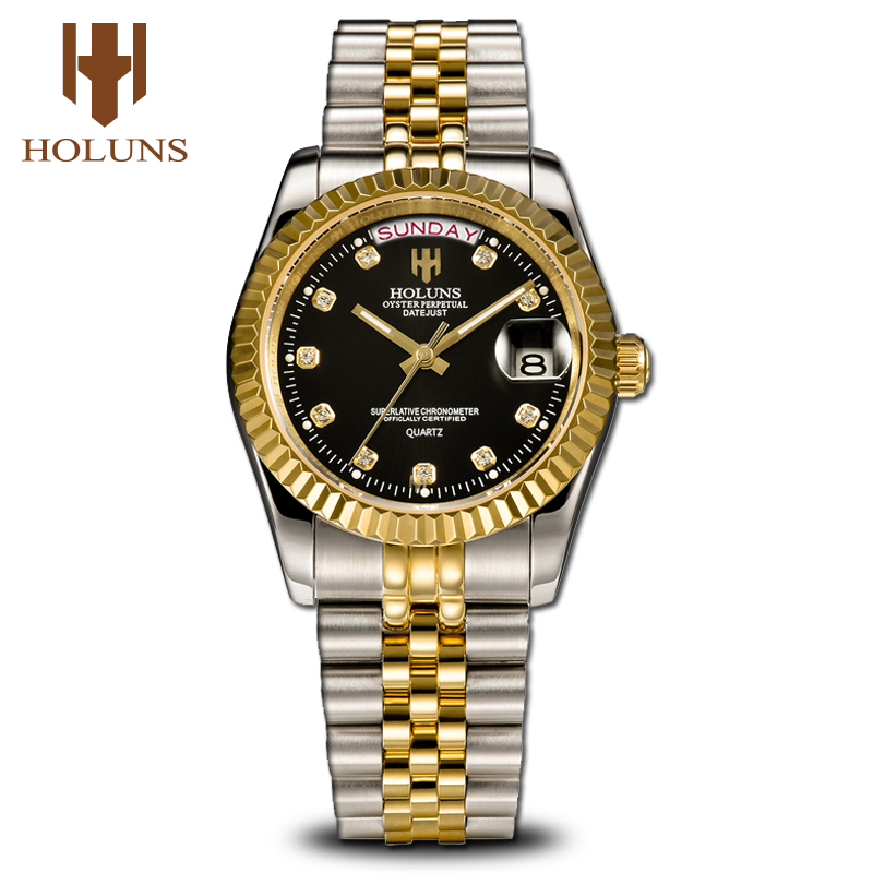 Mens Watches Top Brand Luxury Gold Male Support Dropshipping Fashion Wrist Watch Diamond Quartz Stainless Steel