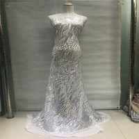 12Color Sequin Lace Fabric Meters 2018 African Lace Fabric With Sequins High Quality Sequin Fabric For Dresses HJ200 1