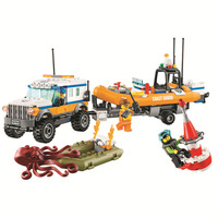 New City Urban Coast Guard 4 x 4 Response Unit building blocks DIY Educational bricks 60165 Compatible with Lego Best Gift