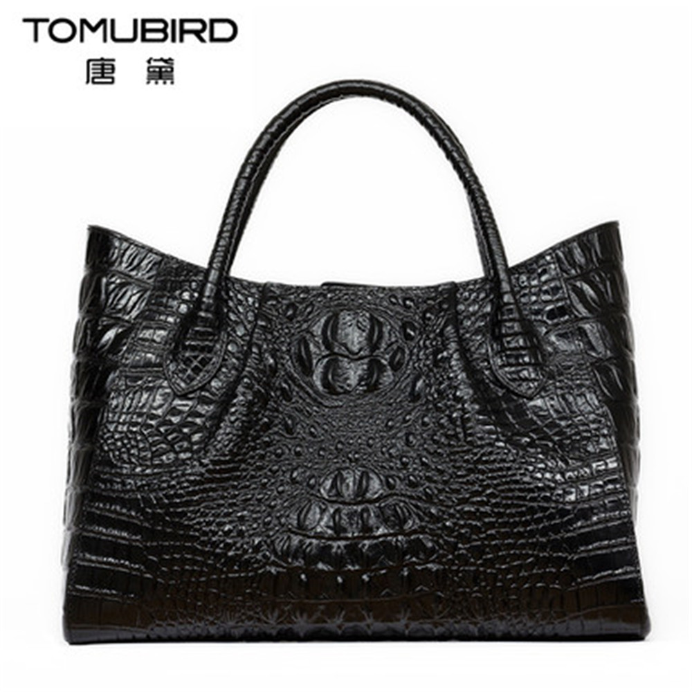 Genuine leather Handbags Women Bag High Quality Casual Female Bag crocodile grain Tote Brand Shoulder Bag Ladies Large Bolsos 2018 yuanyu 2016 new women crocodile bag women clutches leather bag female crocodile grain long hand bag