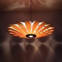 Chinese restaurant LED pendant lamp project ceiling wooden lamp Light Hotel Chandelier za zb32
