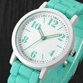 Señoras Reloj Relojes Mujer 2016 Famosa marca de Reloj Análogo de Las Mujeres de Sílice Gel de La Jalea Del Cuarzo de Pulsera Deportivo Relojes Saat Regalo de Las Mujeres