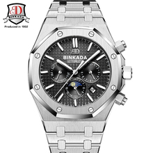 Famous BINKADA 2017 New Royal Style Mechanical Watches Men Steel Band Waterproof Automatic Watch AP Style Self Winding Watches