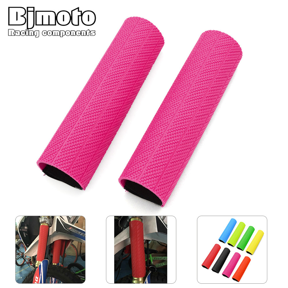 BJMOTO Motorcycle Front Fork Cover Gaiter Gators Boot Shock Protector Dust Guard for Yamaha Suzuki Honda Norton Bike Bicycle keoghs motorcycle front shock absorbers front fork tube suspension 26mm 27mm for yamaha scooter jog rsz force