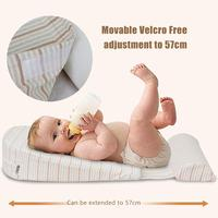 Universal Crib Wedge Pillow for Baby Feeding Mattress Waterproof Layer Handcrafted Cotton Removable Cover 15 degree