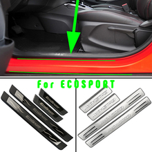Zlord Car Styling Stainless Steel Car Door Sill Plate Door Sills Scuff Plates Fit for Ford Ecosport 2012 - 2019 Accessories