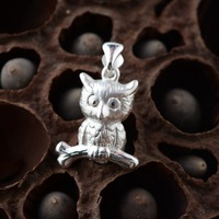 Wang Deer Silver Silver Wholesale S999 Sterling Silver Pendant Silver Style Female Owl Guardian