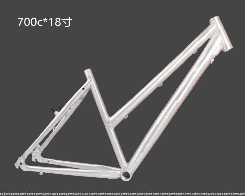 19 inch 700c aluminum alloy disc brake lovely female woman man city cruisers bicycle frame aluminum alloy disc brake 8 9 10 68mm 26 17 42 52mm headset bicycle frame