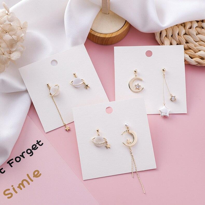 19 Shell Star Moon Planet Asymmetrical Drop Earrings For Women Simulated-pearl Bead Pendientes Long Drop Tassel Earrings 2