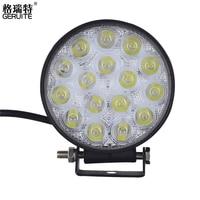 2 stks 48 W LED Waterdichte Ronde Offroad Boot Trekker LED licht Rijden Licht Flood Beam spotlight auto Koplamp