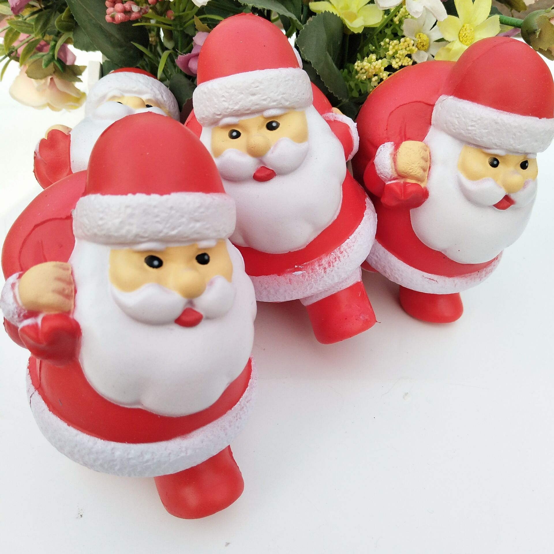 13cm Red Santa Claus Scented Squishy Toys Charm Slow Rising Soft PU Funny Squeeze Toys for Kids Christmas Gifts