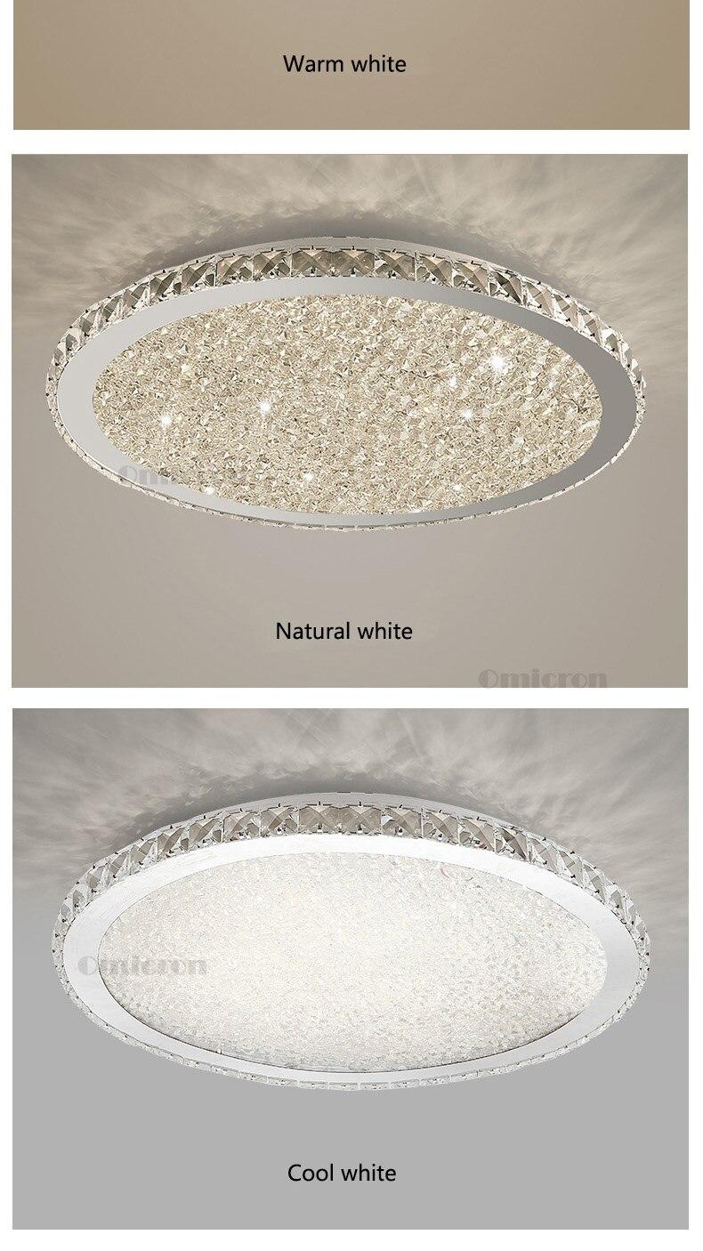 HTB1hvgGacrrK1RjSspaq6AREXXas Crystal Flush Mount Ceiling Light | LED Ceiling Lights | For Living Room Bedroom Home Lighting Fixtures Remote Dimming Stainless Steel Ceiling Lamp Voltage AC110V / AC180-240V