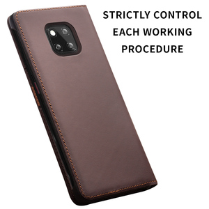 Image 3 - QIALINO Luxury Genuine Leather Phone Cover for Huawei Mate20 Pro Stylish Handmade with Card Slots Wallet Flip Case for Mate 20/X