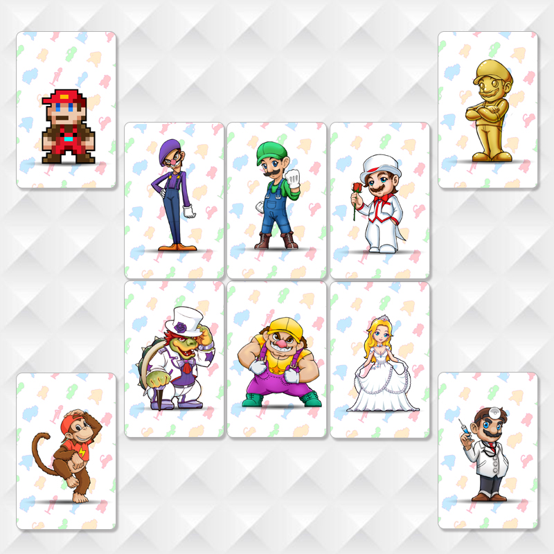 10 Pieces  Odyssey Amiibo Cards NTAG215 Printed NFC Card With Free Card Holder