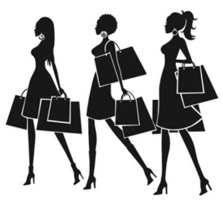 Fashion sexy girls shopping mural art new shop vinyl wall decal wall sticker clothing store window glass home decoration in wall stickers from home garden