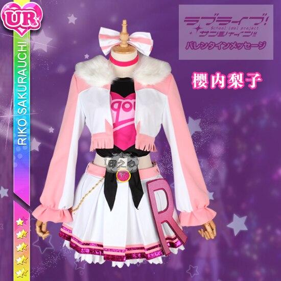 Love Live Sunshine Aqours Косплей RUBY MARI CHIKA Riko Dia You Yoshiko все члены волны Косплей Костюм можно настроить платье