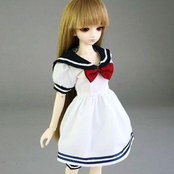[ Wamami ] 120 # белый и синий рубашка / одежда / платье / костюм 1/6 SD AOD бжд Dollfie