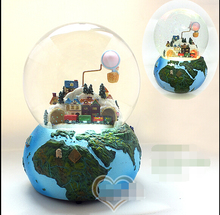 free shipping Voice luminous crystal ball music box Earth