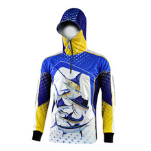 2018 New Men's Anti-UV Fishing Clothes 3D Digital Printing Fishing Jacket Outdoor Breathable Quick-Drying Fishing Clothing
