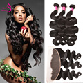 Lace Frontal Closure With Bundles Body Wave Ear To Ear Lace Frontal Closure With Bundles Human Hair With Lace Frontal Closure