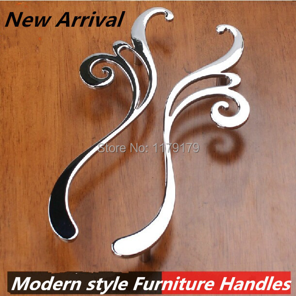 160mm modern faashion creative furniture handles shiny silver kitchen cabinet wardrobe handle chrome dresser cupboard door pull chrome plated modern handle c c 160mm l 184mm h 23mm drawers cabinets