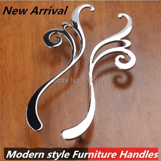 ⊹160mm modern faashion creative furniture handles shiny silver ...