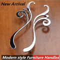 160mm modern faashion creative furniture handles shiny silver kitchen cabinet wardrobe handle chrome dresser cupboard door pull