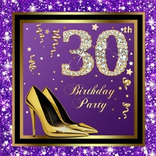 Laeacco 30th 40th 50th 60th Lady Birthday Party Customized Women Photography Backgrounds Photographic Backdrops For Photo Studio