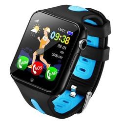 Новый gps трекер gps часы Дети вызов для детей Смарт часы водонепроницаемый камера SOS расположение устройства трекер детские часы-Сейф