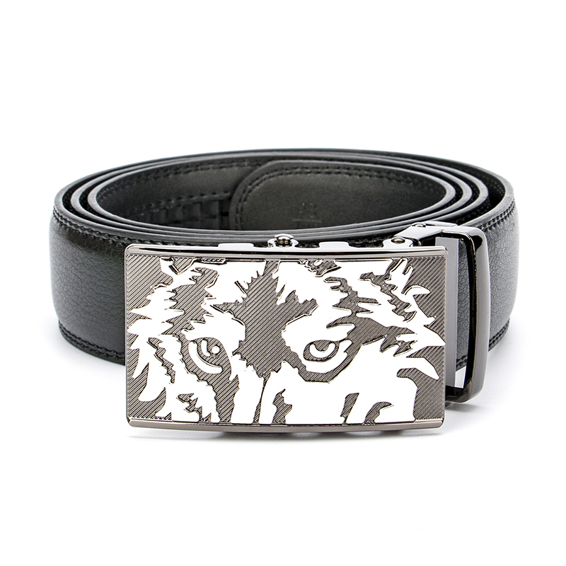 2017 New Wolf Business Luxury Designer Belts Men High Quality Male Genuine Real Leather Wedding Punk Strap for Jeans Waistband